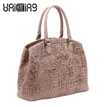 UNICALLING quality fashion bags for women genuine leather female handbag large capacity bag