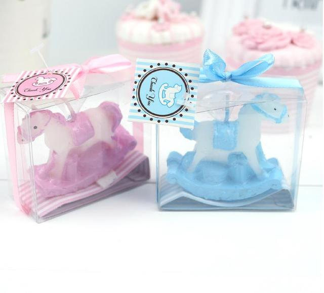 Baby Shower Candle Favor  Playful Rocking Horse Candle Favors Birthday  Party Gift Candle 100pcs