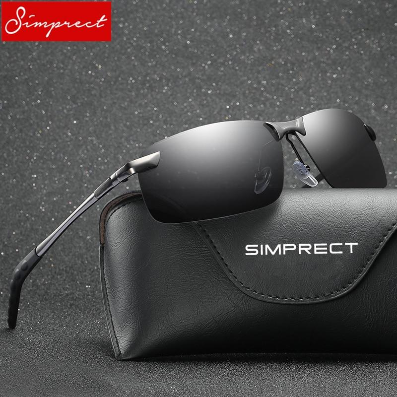 21a0488e98 SIMPRECT 2019 Semi Rimless Polarized Sunglasses Men UV400 Mirror Driving  Sun Glasses High Quality Retro Lunette De Soleil Homme-in Sunglasses from  Apparel ...