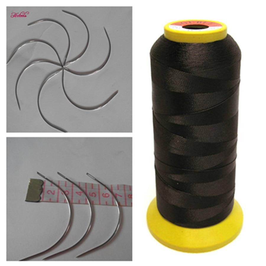 12pcs J Needle1pc Light Brown Weaving Needles High Strength Nylon