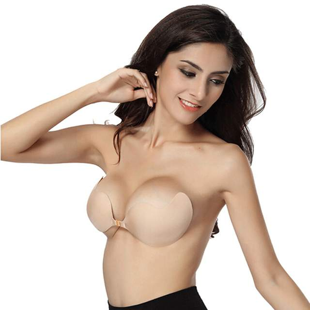 ac608b675aeb8 2017Silicone Push Up bras Strapless Adhesive bra Invisible sexs brassiere  for women lingerie free shipping seamless