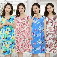 Beauty Ladies Sexy Cotton Nightgown Women Sleeveless Flower Nightwear  Sleepwear Female Lounge Wear Night Dress Home cf1a3b7605