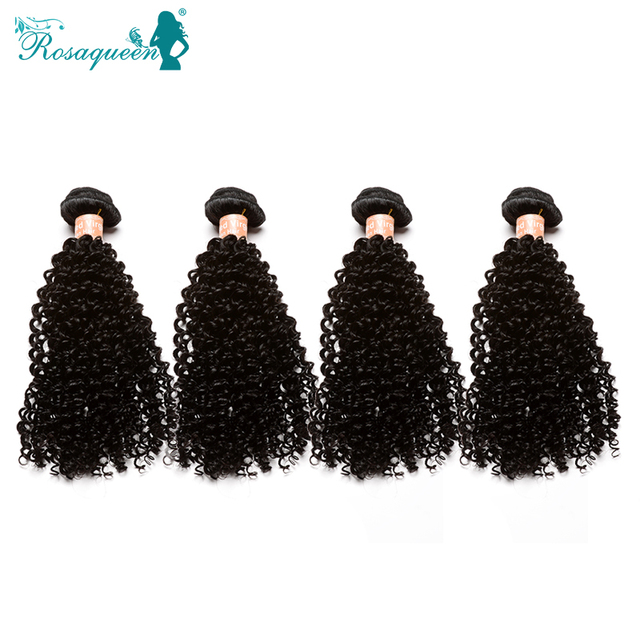 6A Mongolian Kinky Curly Hair Unprocessed 100% Human Hair Weave Tight Curly Human Hair Extensions 4Pcs/Lot Rosa Hair Products