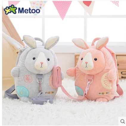 Free shipping  jelly beans baby children rabbit backpack with safety harness cute little backpack kindergarten school bag офисное оборудование beans m baby