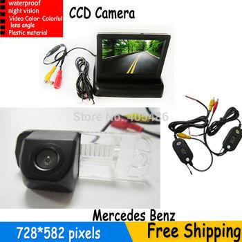 HD Auto Parking Monitor, Reverse CCD Car Rear View Camera for Benz C-Class W203 E-Class W211 CLS-Class 300 W219 R350 R500 ML350