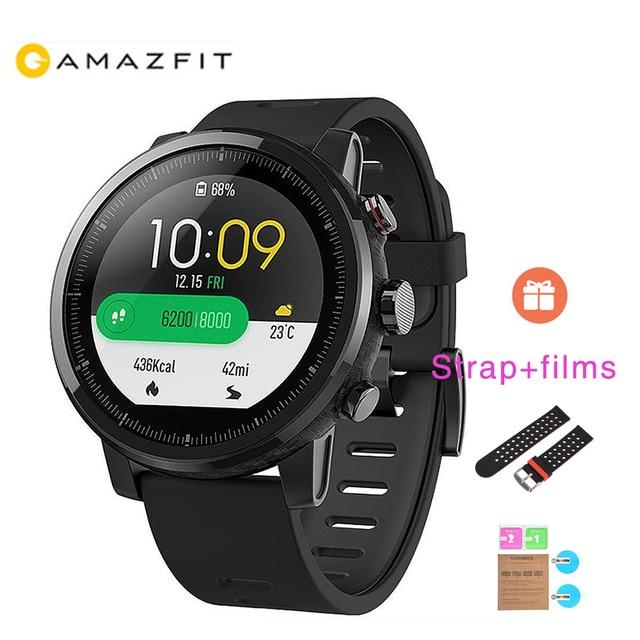 Xiaomi HUAMI AMAZFIT 1 Year Warranty Activity Tracker Smart Sports Watch 2 Version 1.34'' Screen 5ATM Water GPS Watchs gift