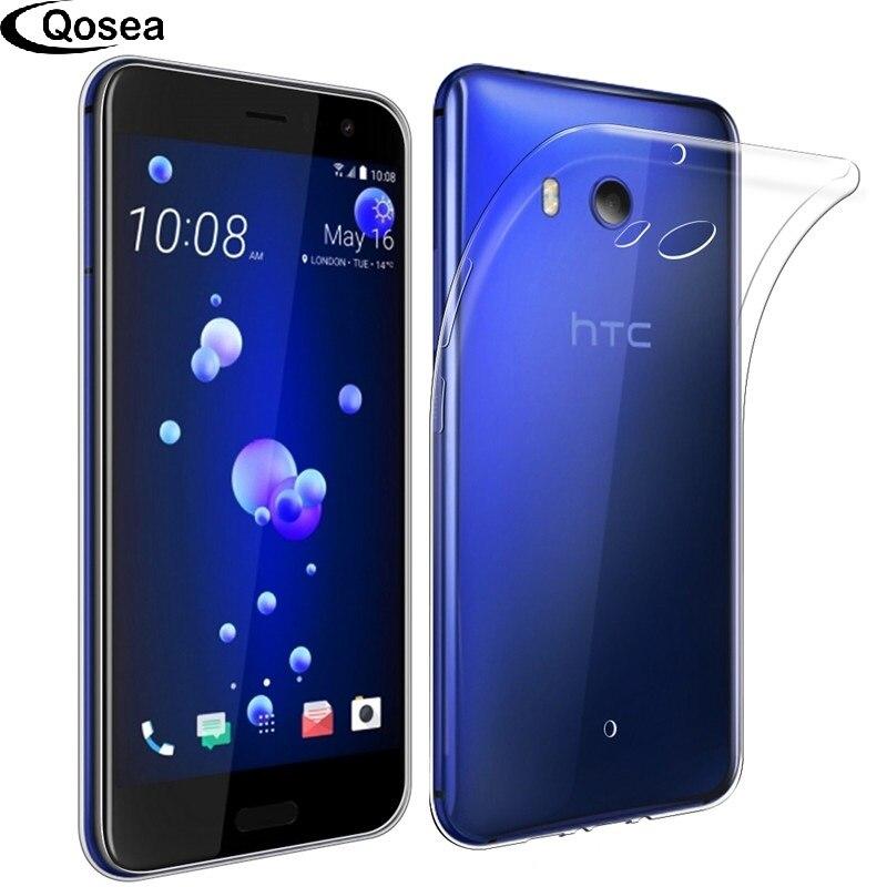 Qosea Pour HTC U11 Smarphone Slim Case Silicone Ultra-mince Transparent doux Gel TPU Pour HTC U11 Téléphone Housse De Protection Retour Coque