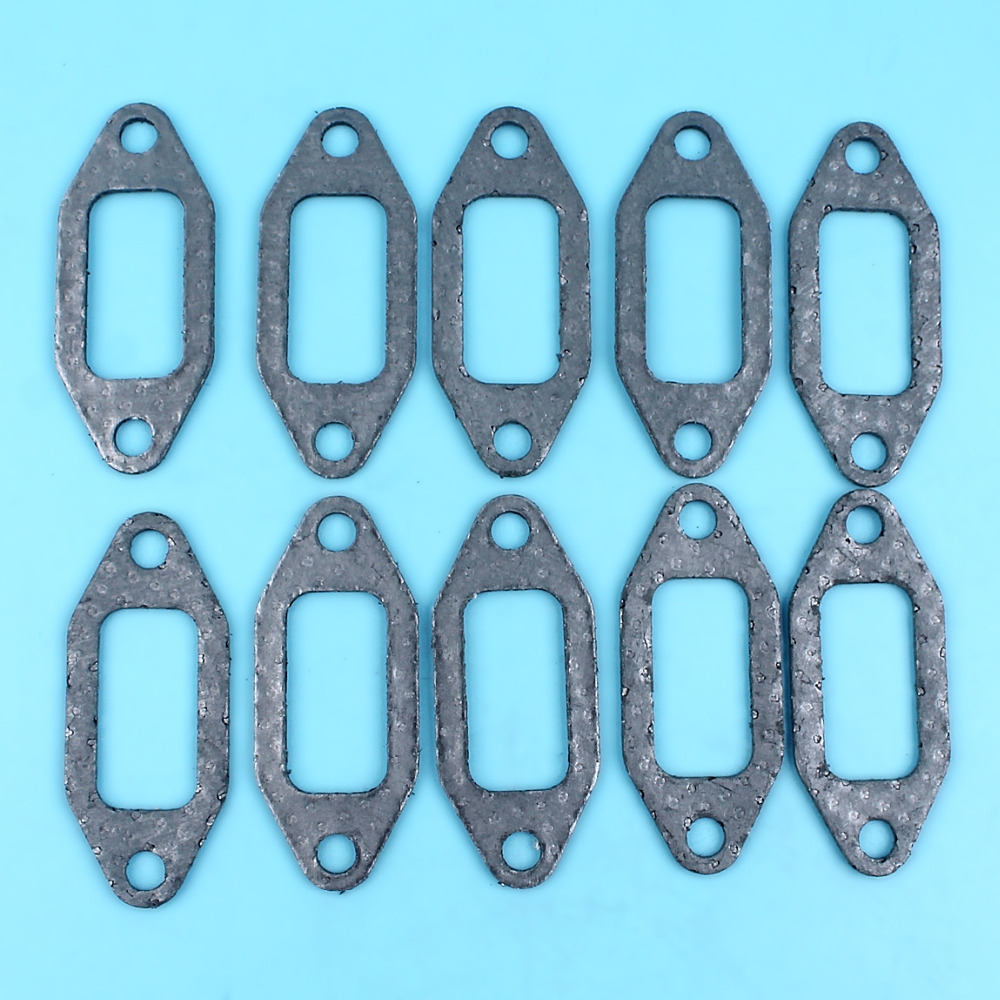 10 X Exhaust Muffler Gaskets For HUSQVARNA 362 365 371 372 372XP 372 XP Chainsaw Replacement Spare Parts