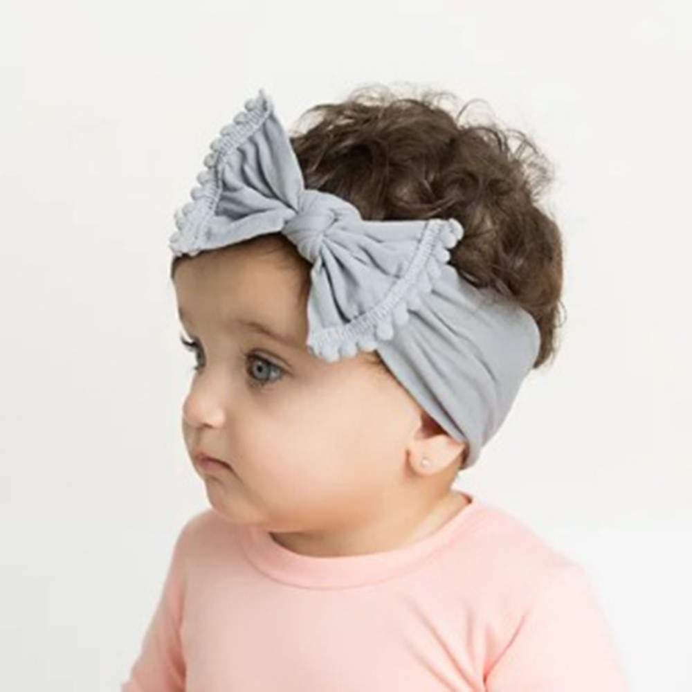 Top Quality Women kid Practical Wide Nylon Bow Ribbon with Pompom Knot Bow Nylon Head One Size Plus Gift Wholesale Dropshipping