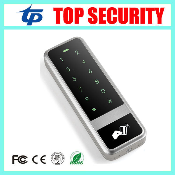 Good quality single door control card reader 13.56MHZ MF card access control surface waterproof standalone access controller surface waterproof metal key access control card reader standalone 8000 users single door 125khz rfid em card access controller