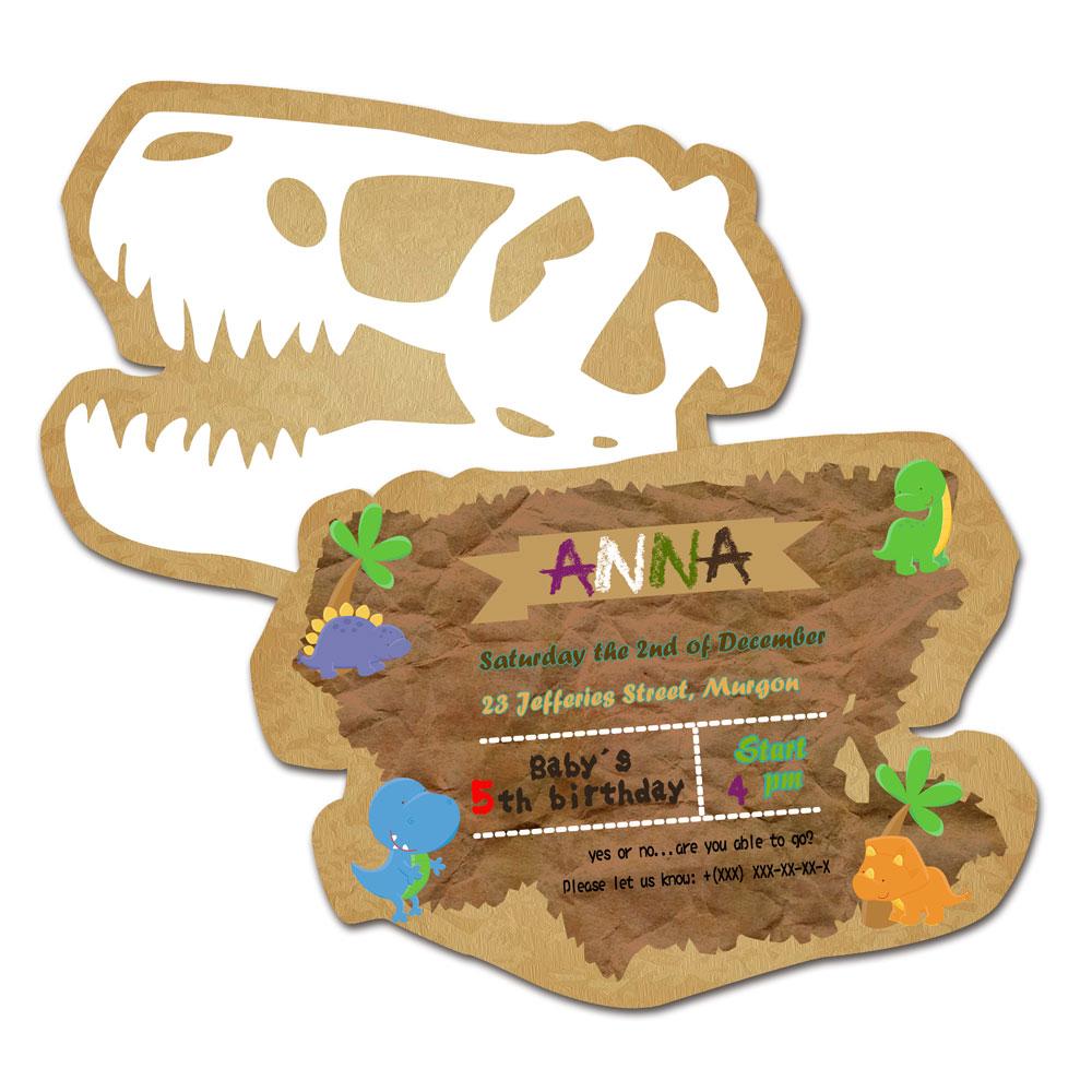 carte anniversaire dinosaure
