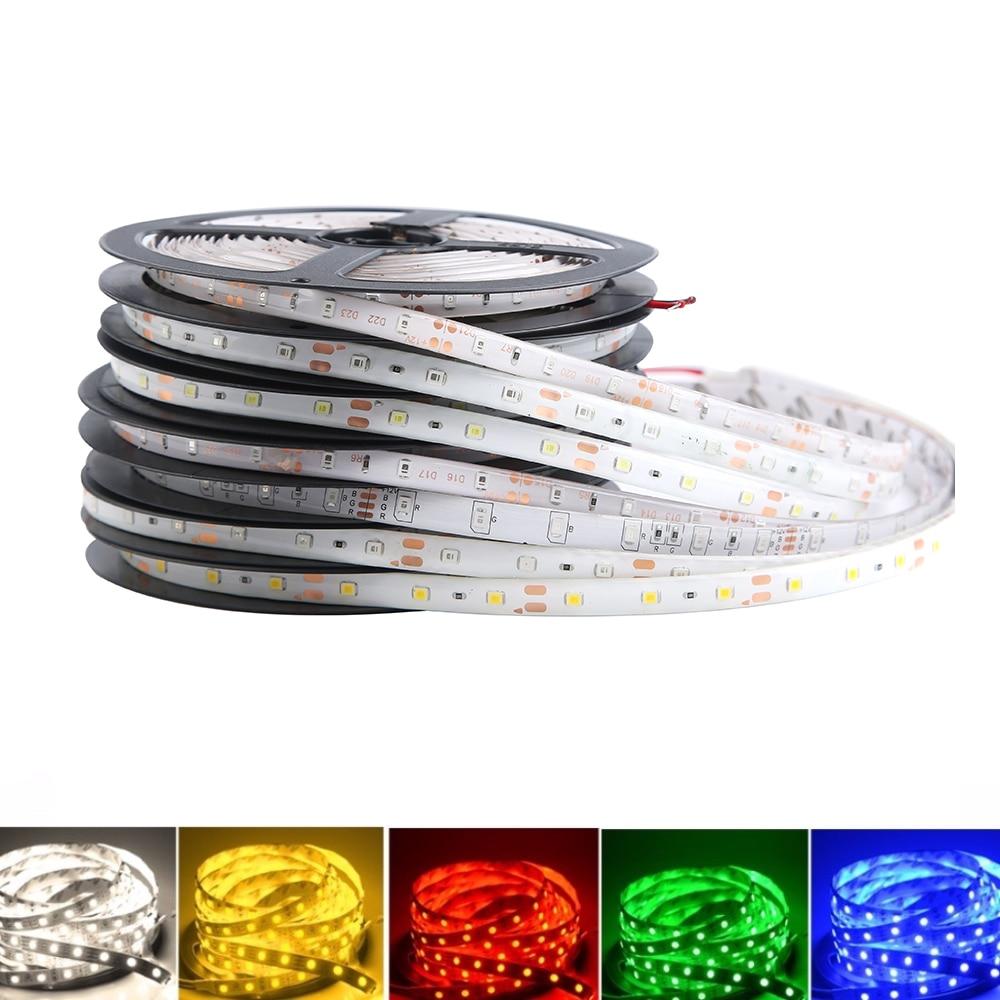 12V Strip Led Light RGB Waterproof SMD 2835 5 M 60LED/M RGB 12V Led Lights Strip 12 V Volt Tape Lamp Diode Ribbon TV Backlight