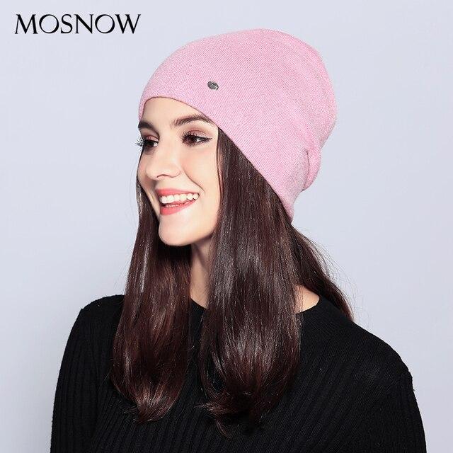 Women's Top Wool Casual Autumn Winter Brand New Double Layer Skullies Beanies 2