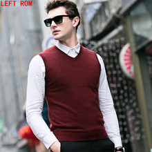 Autumn Winter Cashmere Classic Vest font b Sweater b font font b Men b font Sleeveless