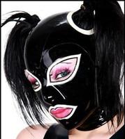 Latex Masks Rubber Mask Masque Fashion Hood Black and White Headgear SizesXXS XXL