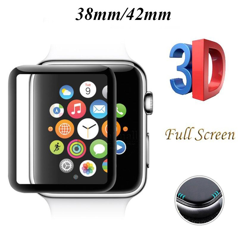 3D Screen Tempered Glass For Apple Watch 38mm 40mm 42mm 44mm 9H Curved Full Screen Protector For I Watch Series 4 2 1 Glass Flim