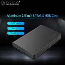 ORICO HDD Case Tool Free 5Gbps SATA to USB3.0 Hard Drive Disk Enclosure Box 2TB for 2.5 inch 12.5mm SATA HDD/SSD
