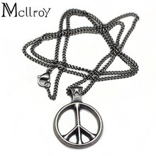Mcllroy World Peace Necklace Hot Sale Retro Silver Pendant Simple Design Necklaces For Men And Women cody Sanderson Brand(China)
