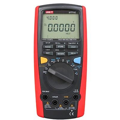 цена UT71C True RMS Digital Multimeter tester digital multimetro multimetr Resistance Tester digital voltmeter ammeter USB Data Hold