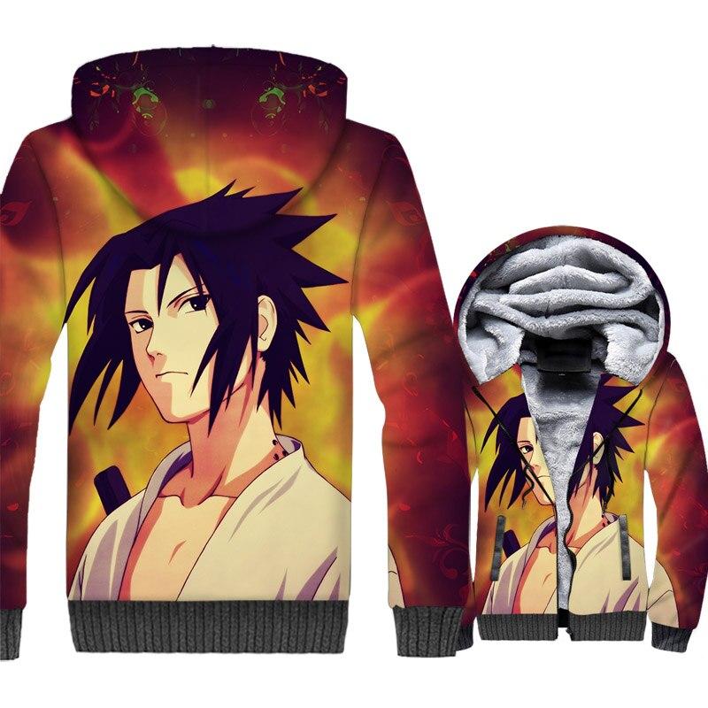 Naruto Konan Sasuke 3D Jackets Men Gaara Hoodie Japan Anime Harajuku Sweatshirt Winter Thick Fleece Warm Coat Ninja Streetwear