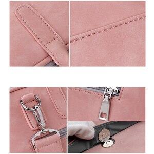 Image 5 - 2020 Vogue PU Waterproof Laptop Shoulder Bag Notebook Shoulder Carry Case For MacBook Air DELL HP Acer Lenovo Asus 13 14 15 Inch