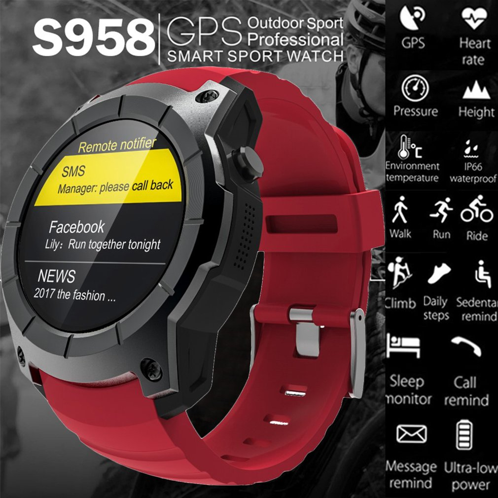 S958 Smart Watch Heart Rate Monitor Sports Watch Pedometer Fitness Tracker Smartwatch Support SIM TF Card for Android for IOS smart watch men women heart rate monitor bluetooth pedometer fitness sports smartwatch with camera support sim card for android