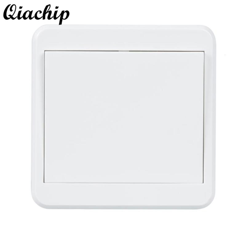QIACHIP 86 Wall 433mhz 1 CH Button Wireless Power Remote Control Switch Transmitter RF Relay Receiver Smart Home Lamp Light LED qiachip 433mhz 86 wall switch 2 button remote control switch wireless transmitter switch room for smart home lamp light led bulb