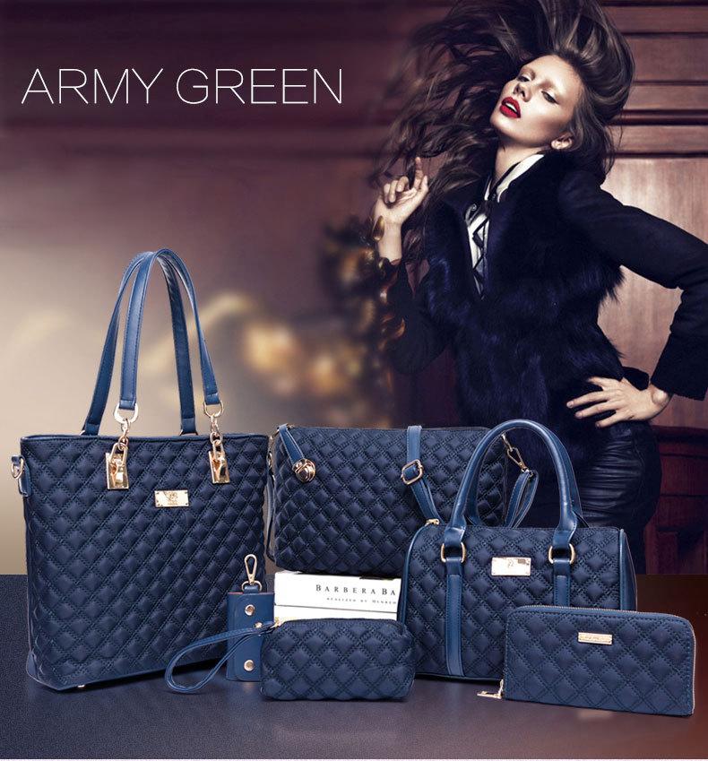 18 Women Bag Set Handbags Shoulder Bags Satchel Clutch Handbag Bolsas Famous Brands Composite Tote Ladies Crossbody Bag 6pcs 1