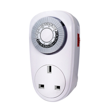 7 Days Daily 24H Mechanical Control Light Outlet Timer Home Interval Clock Wall Plate UK Plug In