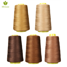 Mrosaa 5 Pcs Sewing DIY Threads Clothing Thread Cord for DIY Handicraft Polyester Stitching Jeans thread 5 Colors