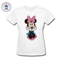 2017 New Fashion Funny Super Cute Cartoon Mickey Animal Cotton Funny T Shirt Women