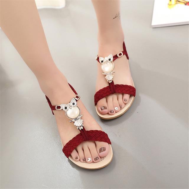 Women Sandals women shoes Flip Flops Summer Ankle-Strap Sandals Sandale Femme Crystal