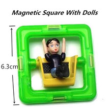 Square With Dolls Boys And Girls Magnetic Magnetic Building Toy Children Educational Toys