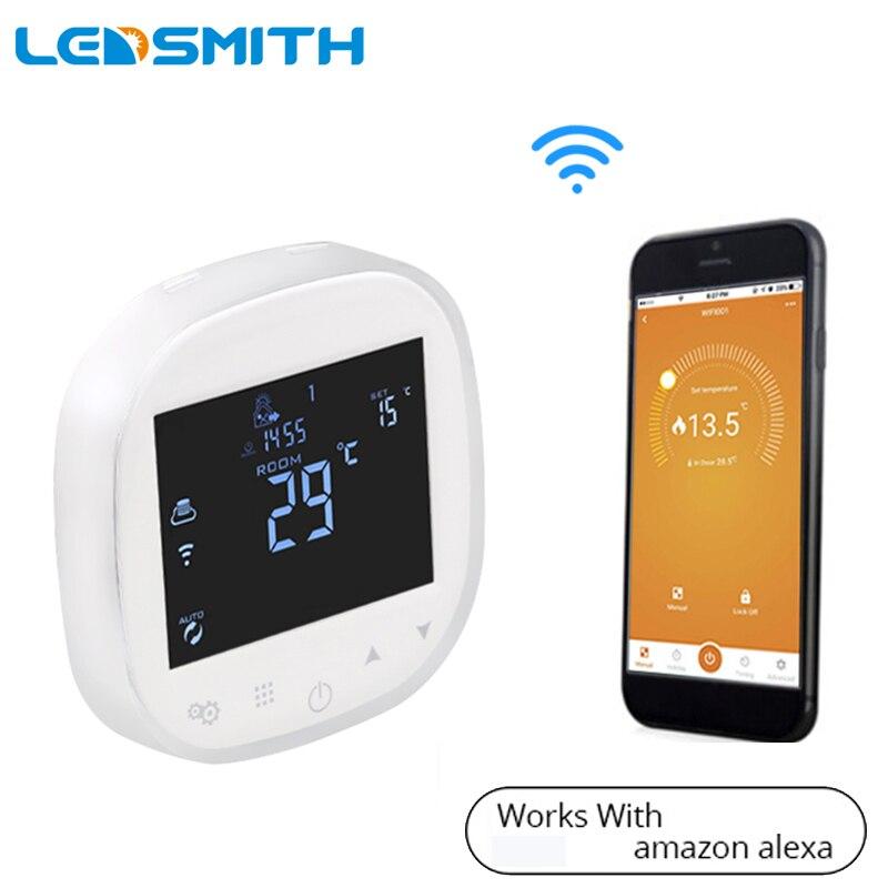 Régulateur de Thermostat intelligent WIFI pour eau/chauffage par le sol électrique régulateur de température de chaudière eau/gaz fonctionne avec Alexa