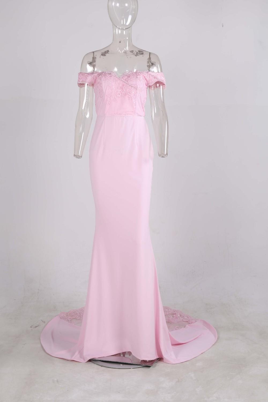 فستان سهرة  Missord جذاب مع ذيل وذو تصميم مميز 19