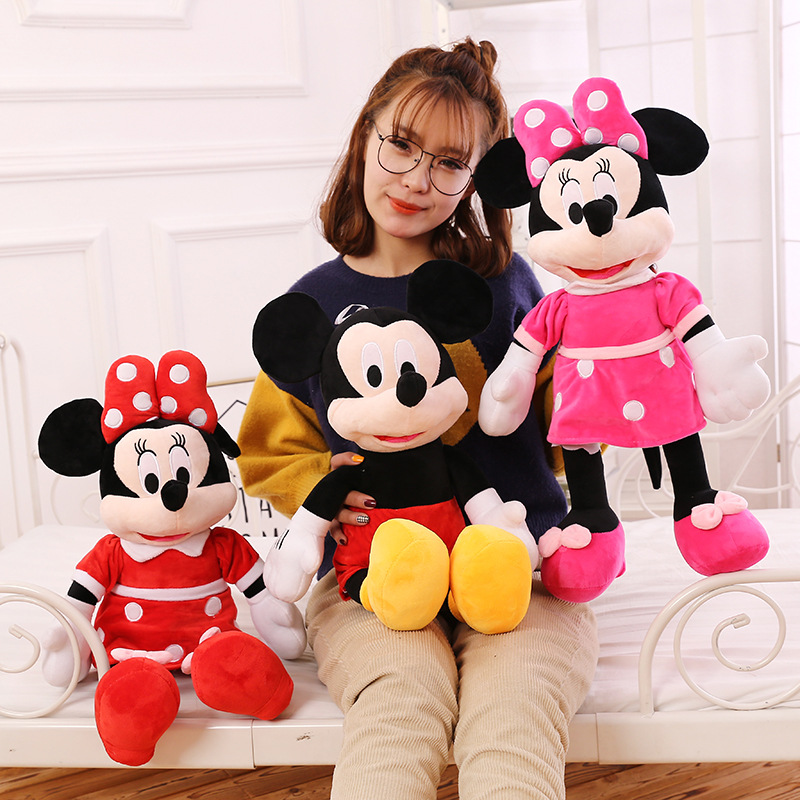 1pc 40cm High Quality Cute Mickey And Minnie Mouse Plush Toy Doll Stuffed CartoonToys For Kids Children Birthday Christmas Gift