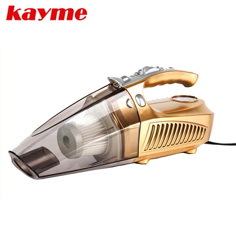 Kayme mini handheld 100 W vácuo do carro mais limpo portátil auto poeira escova para o carro 12 v compressor de ar do carro pneu inflator infation pumb