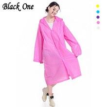 Women Raincoat Transparent Rainwear Girl Rain Coat Impermeable Long Poncho Female Waterproof cape cover Hooded