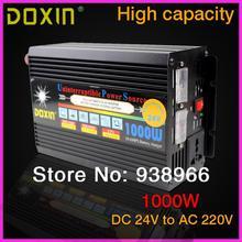 UPS 1000 Вт DC24V к AC220V Портативный Автомобильный Инвертор Зарядное Преобразователь Напряжения 24 В До 220 В Трансформатор