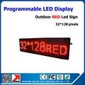 Водонепроницаемый из светодиодов программируемый 54 * 16 '' из светодиодов рекламы экран p10 красный программируемый из светодиодов знаки на открытом воздухе из светодиодов дисплей