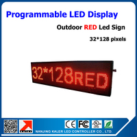 Waterproof led screen programmable 54*16'' led display advertising screen p10 red programmable led signs outdoor led display