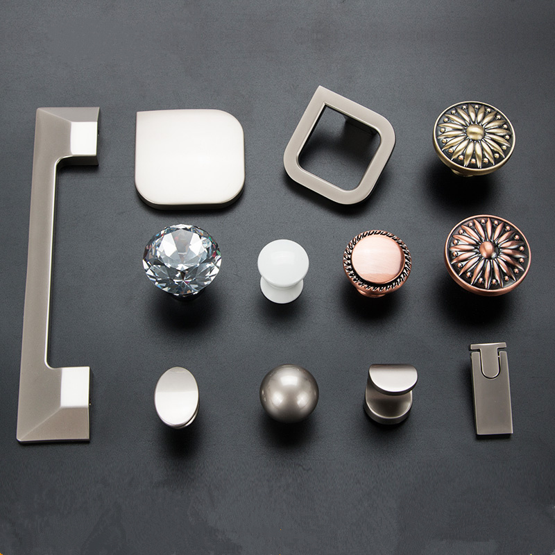 variety style Cabinet Knobs and handle Door Pull Wardrobe Cupboard Handle Drawer Pull Single and Double hole furniture Hardware european diamond furniture door handle modern minimalist style drawer wardrobe cabinets shoes door antique pull handle knobs