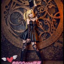 Death Note  Misa Amane Imitation Leather Sexy Tube Tops Lace