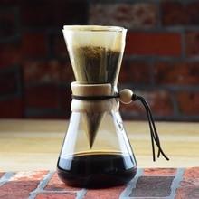 Neue Ankunft FREIES VERSCHIFFEN CHEMEX Stil Kaffee Brewer 1-3 Tassen Gezählt Espresso Kaffeemaschinen Kaffeemaschine
