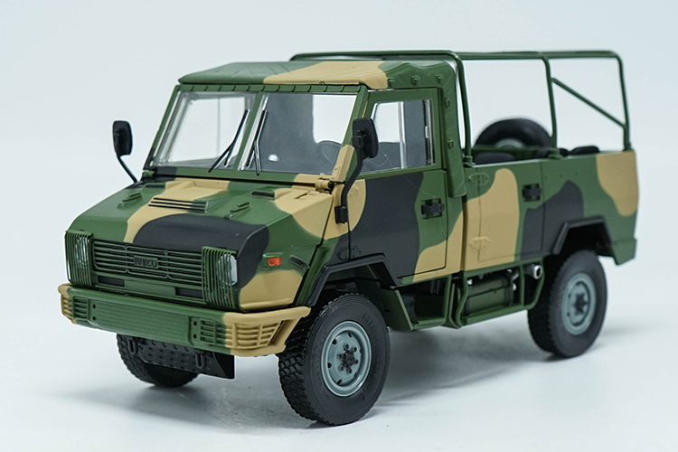 1:24 Diecast Model for NAVECO IVECO NJ2046 ARMY Truck (Camouflage) Alloy Toy Car Miniature Collection Gifts Van 1 30 diecast model for foton lovol m2104 k tractor alloy toy truck miniature collection gifts td tg series