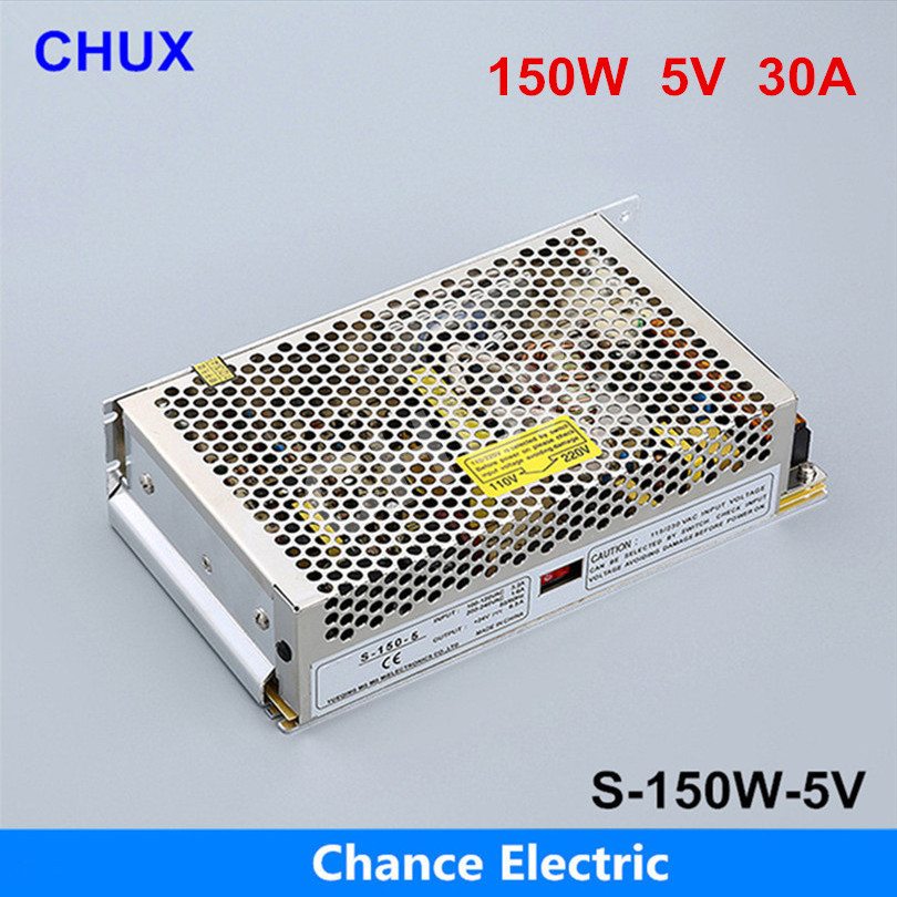 Switching Power Supply 150W 5v 30A,Single Output ac dc converter for Led Strip,AC110V/220V Transformer to DC 5V s 201 5 201w 5v 40a single output ac dc switching power supply for led strip ac110v 220v transformer to dc 5v led driver