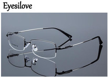 Eyesilove metal Finished myopia glasses Nearsighted Glasses prescription glasses for men women eyewear diopter from 1