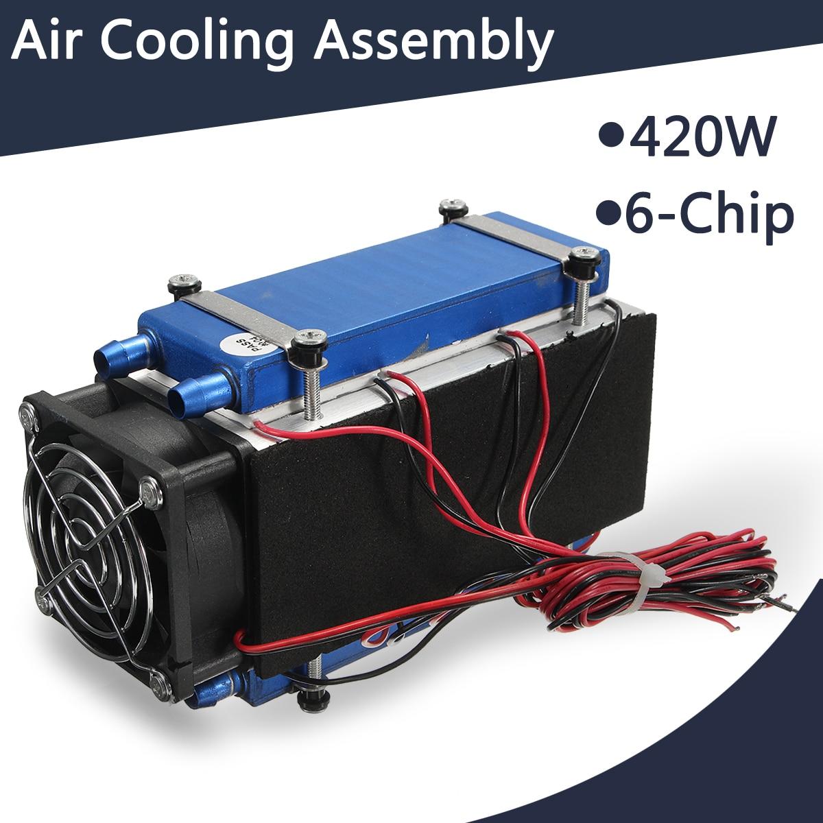 420 Вт Термоэлектрический охладитель полупроводниковый Холодильный Пельтье кулер воздушного охлаждения радиатор водяного охлаждения Сист...