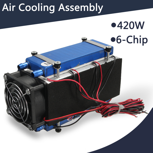 US $55 29 50% OFF|420W Thermoelectric Cooler Semiconductor Refrigeration  Peltier Cooler Air Cooling Radiator Water Chiller Cooling System for  home-in