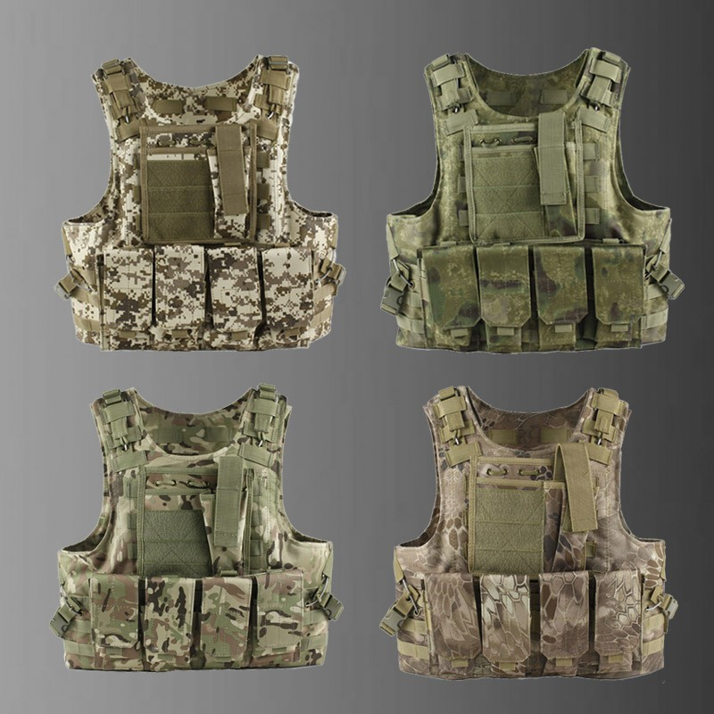 Hot sale Camouflage Military Tactical Vest Airsoft Hunting Molle Vest CS Outdoor Equipment 13 colors